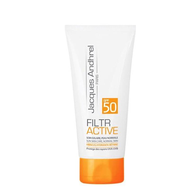 کرم ضد آفتاب ژاک آندرل مناسب پوست های معمولی با SPF50 حجم 50 میل - بدون رنگ