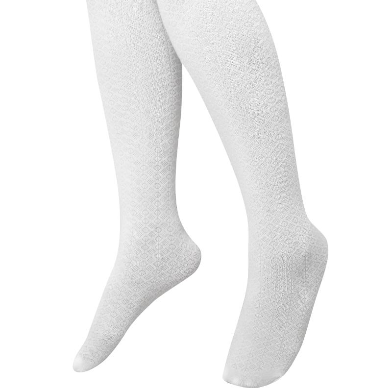 جوراب شلواری کَش کَش شیری - سایز L