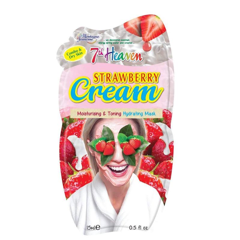 ماسک کِرمی صورت سون هون مونته ژنه حاوی عصاره توت فرنگی و خامه حجم 15 میل